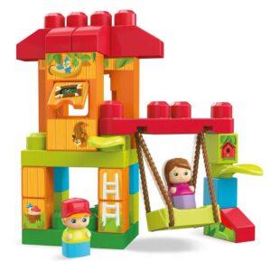 Конструктор за деца - Къщичка на дървото с люлка - Детски играчки - Конструктори