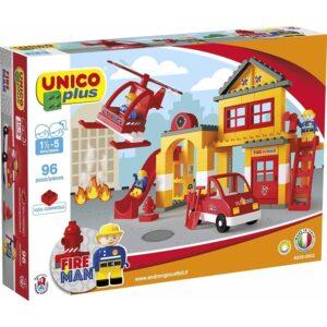 Конструктор за деца - пожарникар, Unico - Детски играчки - Конструктори