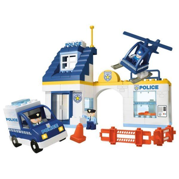 Конструктор за деца - полицейски участък, Unico - Детски играчки - Конструктори