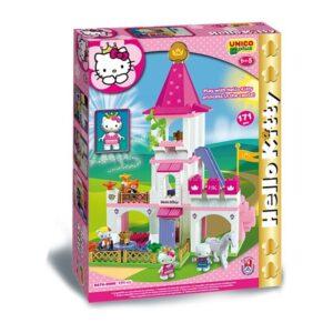 Конструктор за деца - замък, Hello Kitty, Unico - Детски играчки - Конструктори - Hello Kitty