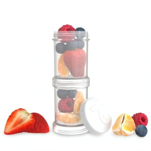Контейнери за храна и сухо мляко Twistshake - 2 бр. по 100 мл бял - За бебето - Хранене - Аксесоари за хранене