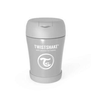Контейнер за храна от неръждаема стомана Twistshake 6+ месеца сив - За бебето - Хранене - Прибори за хранене на бебета