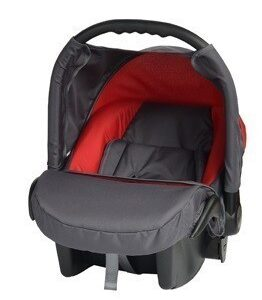 Кошче за бебета за кола Baby Merc Junior Twist графит и червено - Бебешки колички - Кошчета за кола