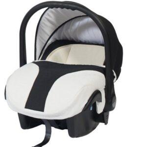 Кошче за бебета за кола Baby Merc Style бяло с тъмно синьо - Бебешки колички - Кошчета за кола