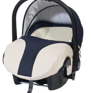 Кошче за бебета за кола Baby Merc Style морско синьо с кремаво - Бебешки колички - Кошчета за кола