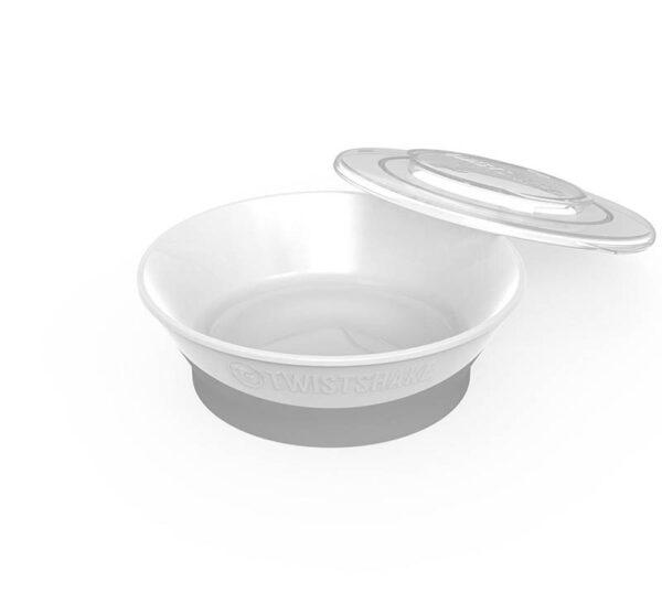 Купа за хранене Twistshake 6+ месеца бяла - За бебето - Хранене - Прибори за хранене на бебета