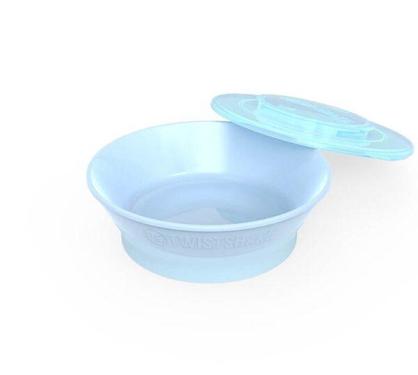 Купа за хранене Twistshake 6+ месеца синя - За бебето - Хранене - Прибори за хранене на бебета