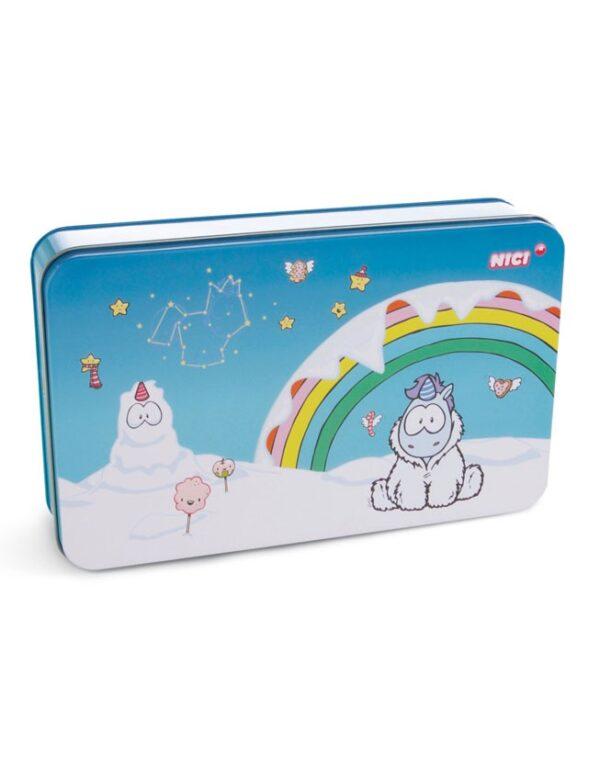 Кутия за бисквити - Снежен Еднорог - За детето - Детски прибори за хранене