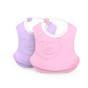 Лигавници 4+ месеца, розов и лилав - За бебето - Хранене - Лигавници