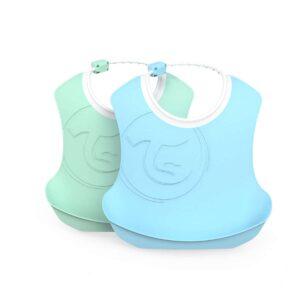 Лигавници 4+ месеца, син и зелен - За бебето - Хранене - Лигавници