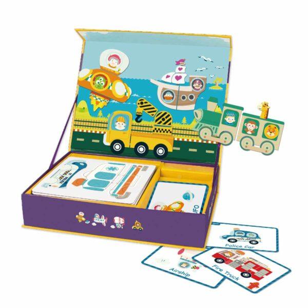 Магнитни фигури на транспортни средства - Детски играчки - Дървени играчки