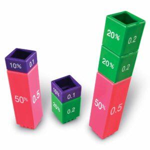 Математическа кула с проценти и дроби - игра за деца - Детски играчки - STEM Играчки