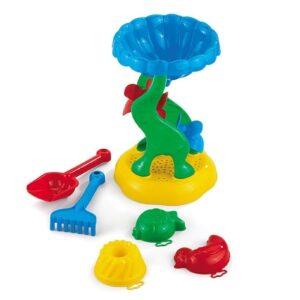 Мелница с лопатка, гребло и три формички - Детски играчки - Играчки за пясък