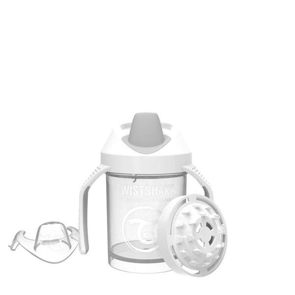Мини чаша с шейкър Twistshake 230 мл 4+ месеца бяла - За бебето - Хранене - Детски и бебешки чаши