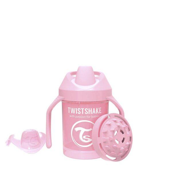 Мини чаша с шейкър Twistshake 230 мл 4+ месеца розова - За бебето - Хранене - Детски и бебешки чаши