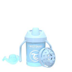 Мини чаша с шейкър Twistshake 230 мл 4+ месеца синя - За бебето - Хранене - Детски и бебешки чаши