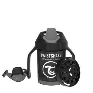 Мини чаша с шейкър Twistshake 230 мл 4+ месеца черна - За бебето - Хранене - Детски и бебешки чаши