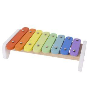 Многоцветен дървен ксилофон за деца - Детски играчки - Дървени играчки