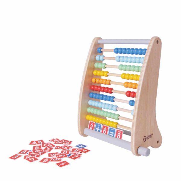 Многоцветно дървено сметало с карти - Детски играчки - Дървени играчки