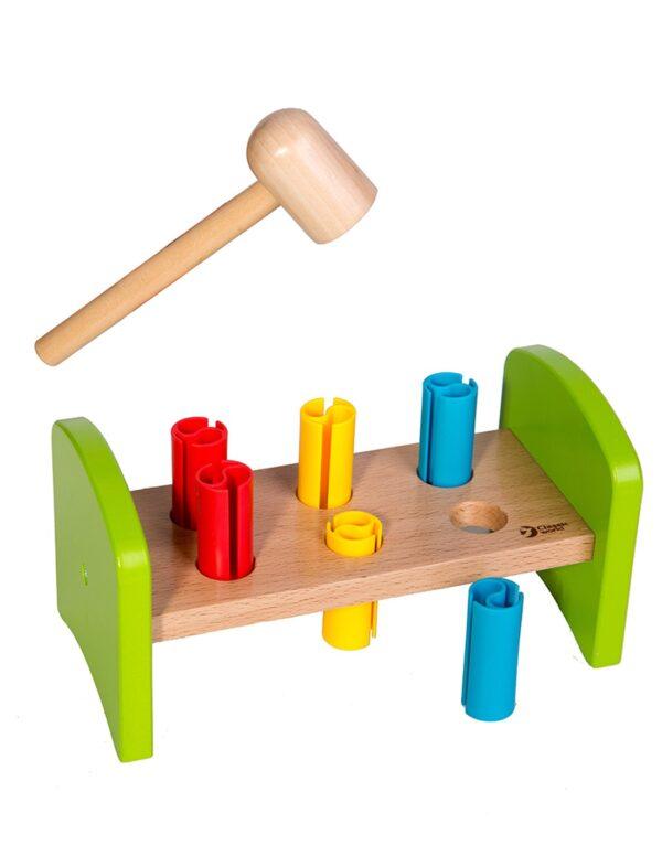 Мултиактивна дървена игра с Чукче - Детски играчки - Образователни играчки - Дървени играчки