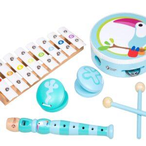 Музикален дървен комплект - Детски играчки - Музикални инструменти - Дървени играчки