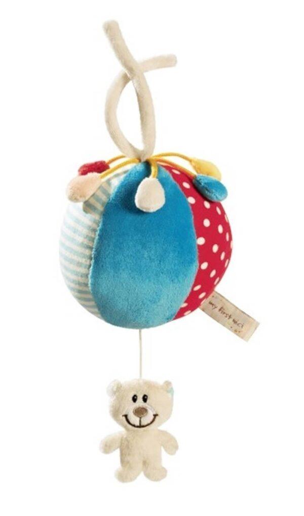 Музикална играчка за количка - Мече с топка - Детски играчки - Плюшени играчки
