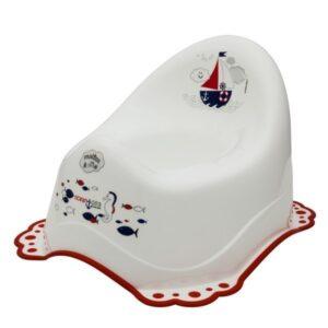 Музикално гърне с гумирана основа Ocean & Sea бяло - За бебето - Детска и бебешка тоалетна - Гърнета