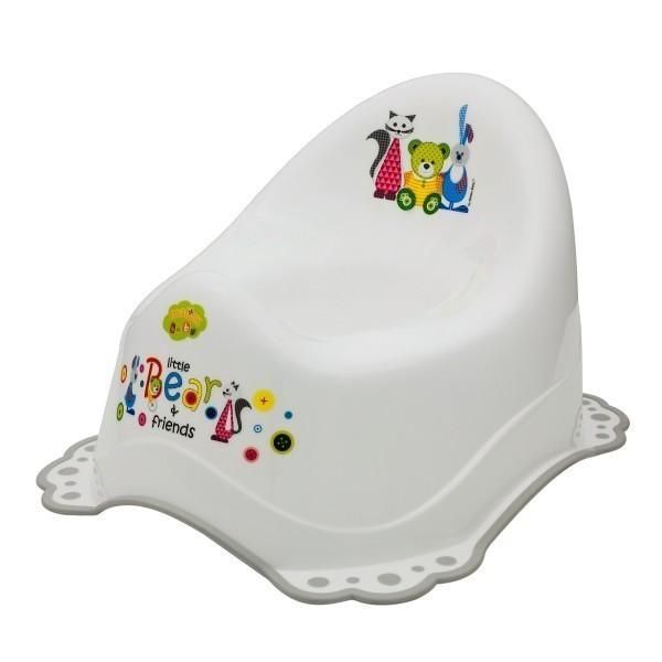 Музикално гърне за бебета Little Bears & friends бяло - За бебето - Детска и бебешка тоалетна - Гърнета