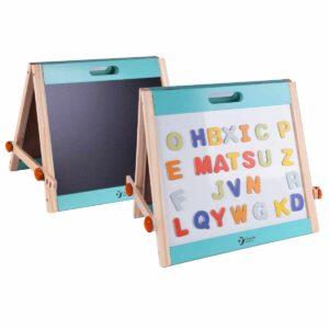 Настолна дъска за рисуване и с магнитни букви - Детски играчки - Дървени играчки