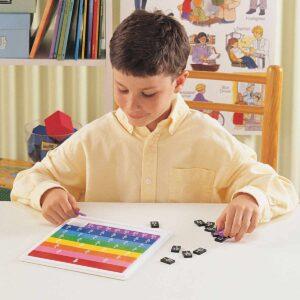 Научи дробите лесно с цветни плочки - Детски играчки - STEM Играчки
