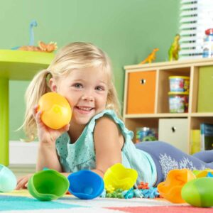 Образователна игра за броене, сортиране и разпознаване на цветове с динозаври - Детски играчки - STEM Играчки