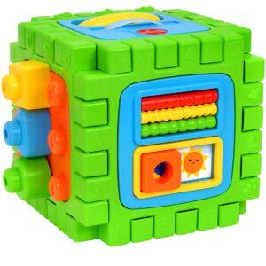 Образoвателно-музикален куб за игра 2 в 1 - Детски играчки - Образователни играчки
