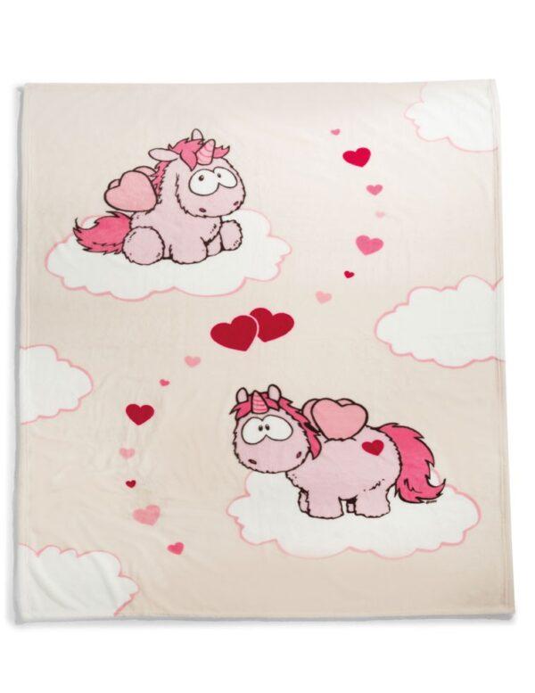 Одеало с Еднорози, розово - За бебето - Аксесоари за детска стая - Завивки / Одеяла