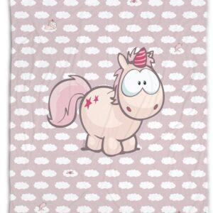 Одеяло Еднорога Теодор, 125х160 см - За бебето - Аксесоари за детска стая - Завивки / Одеяла - За детето - Аксесоари и текстил за детска стая