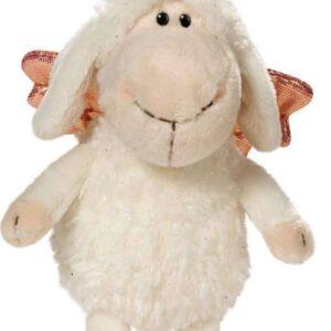 Овцата Jolly с ластиче-Don t worry be happy- Бяла 15 см. - Детски играчки - Плюшени играчки