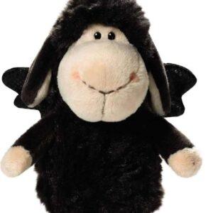 Овцата Jolly с ластиче-Don t worry be happy-Черна 15 см. - Детски играчки - Плюшени играчки