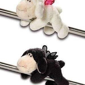Овцата Jolly с магнити-Don t worry be happy-Черна 12 см. - Детски играчки - Плюшени играчки