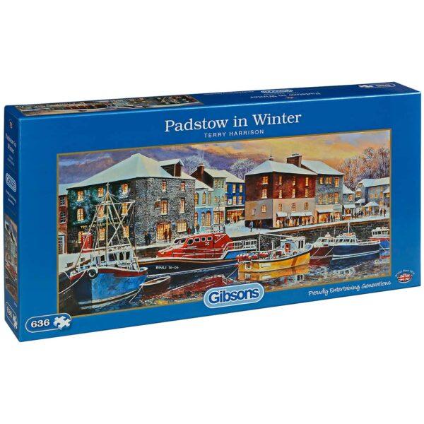Панорамен пъзел Gibsons от 636 части – Зимно пристанище, Тери Харисън - Пъзели
