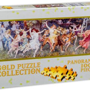 Панорамен пъзел Gold Puzzle от 1000 части - Ден в гората - Пъзели