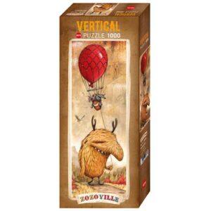 Панорамен пъзел Heye от 1000 части - Червен балон, Зозовил - Пъзели