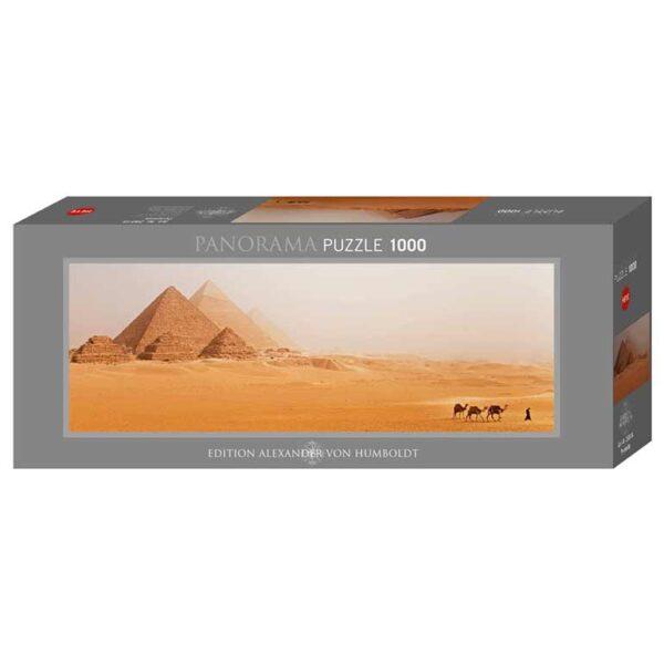 Панорамен пъзел Heye от 1000 части - Пирамиди, Александър фон Хумболт - Пъзели