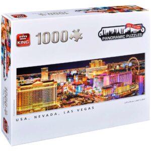 Панорамен пъзел King от 1000 части - Невада, Лас Вегас, Сузане Кремер - Пъзели