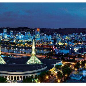 Панорамен пъзел Master Pieces от 1000 части - Портланд, Орегон - Пъзели