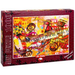Пъзел Art Puzzle от 1000 части - Оркестър, Лари Пончо Браун - Пъзели