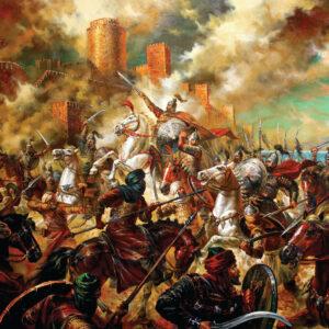 Пъзел Black Sea Puzzles от 1000 части - Хан Тервел разгромява арабите, Васил Горанов - Пъзели