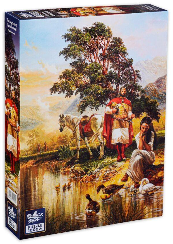 Пъзел Black Sea Puzzles от 1000 части - Легенда за Цар Самуил, Васил Горанов - Пъзели