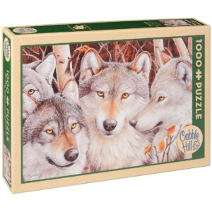 Пъзел Cobble Hill от 1000 части - Глутница вълци, Кейти Гоф - Пъзели