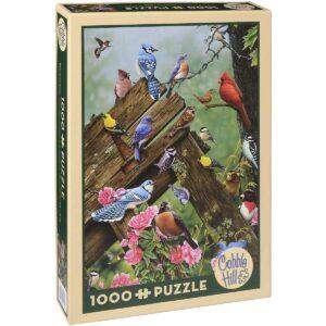 Пъзел Cobble Hill от 1000 части - Горски птици, Джери Гейдъмус - Пъзели