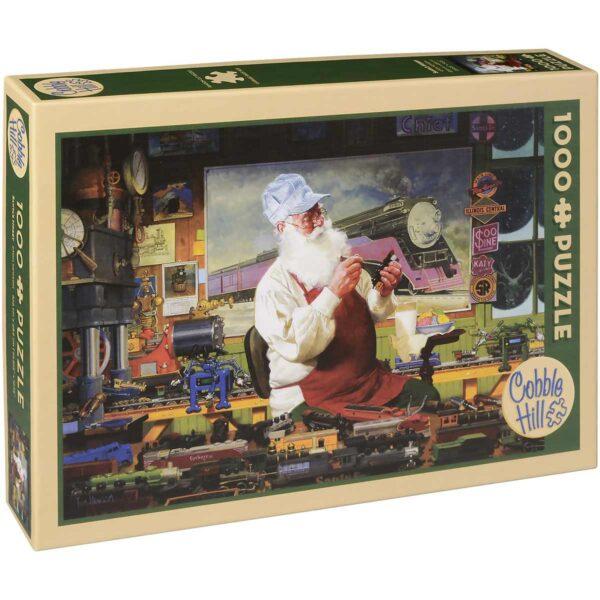 Пъзел Cobble Hill от 1000 части - Хобито на Дядо Коледа, Том Нюсъм - Пъзели