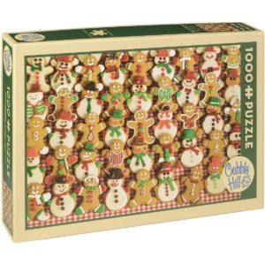 Пъзел Cobble Hill от 1000 части - Коледен базар за сладки - Пъзели